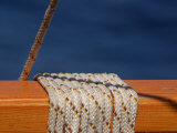 Nautical Rope Wrapped around a Ship's Railing Photographic Print