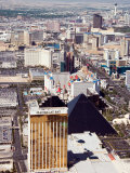 Aerial View of the Bustling City of Las Vegas, Nevada Fotografie-Druck