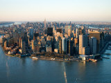 Aerial View of Buildings and High Rises in New York City, New York Fotografie-Druck