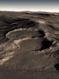 Three Craters in the Eastern Hellas Region of Mars Fotografie-Druck von  Stocktrek Images