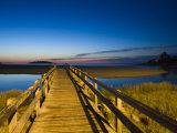 Good Harbour Beach Footbridge, Gloucester, Cape Ann, Massachusetts, USA Fotografisk tryk af Walter Bibikow