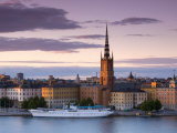 Sunset, Riddarholmen and Gamla Stan, Stockholm, Sweden Photographic Print by Doug Pearson