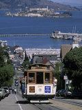 Tram, Hyde St, San Francisco, California, USA Impressão em tela esticada por Walter Bibikow