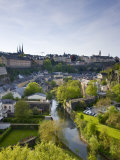 Boulevard Du General Patton, Luxembourg City, Luxembourg Photographic Print by Walter Bibikow