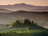 Fattoria, Val D'Orcia, Toscana, Italia Stampa su tela di Doug Pearson