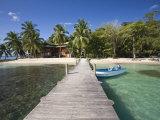Carenero Island Beach and Pier, Bocas Del Toro Province, Panama Lámina fotográfica por Jane Sweeney