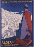 Alger Giclée-tryk af Roger Broders