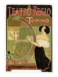 Teatro Regio, Torino: Theatre Royal de Turin Opera House, c.1898 Giclee Print by G. Boano