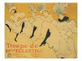 Troupe de Mlle. Eglantine, c.1896 Lámina giclée por Henri de Toulouse-Lautrec