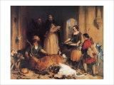 Scene at Bolton Abbey Giclée-tryk af Edwin Henry Landseer