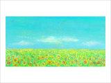 Sky, the Earth and Sunflower Field Giclee Print by Miyuki Hasekura