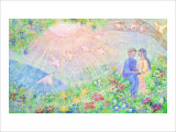 Thanks to Meet You on the Earth Giclee Print by Miyuki Hasekura