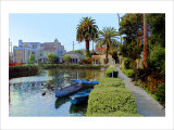 Little Boats on Canal Giclee Print by Jack Heinz
