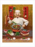 Wok-Man, Chinese Chef Giclee Print by John Howard