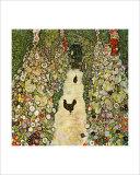 Garden Path with Chickens Giclée-tryk af Gustav Klimt
