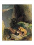 Attachment Giclée-tryk af Edwin Henry Landseer