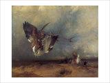 Hawking Giclée-tryk af Edwin Henry Landseer