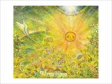 Keep the Sun in Your Mind in Gold Color Giclee Print by Miyuki Hasekura