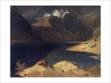 A Lake Scene: Effect of a Storm Giclée-tryk af Edwin Henry Landseer