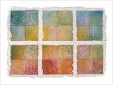 Six Happy Leaves and Natural Notes on Japanese Paper Giclee Print by Miyuki Hasekura