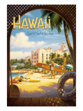 Hawaii, Land of Surf and Sunshine Giclee Print by Kerne Erickson