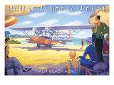Palm Beach Aero Giclee Print by Kerne Erickson