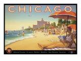 Chicago ja Southern Air Giclée-vedos tekijänä Kerne Erickson