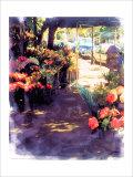 Flower Shop in a Shade Giclee Print by Nicolas Hugo