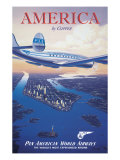 America by Clipper Giclee Print by Kerne Erickson