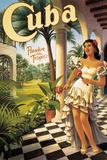 Cuba, på engelsk Giclée-tryk af Kerne Erickson