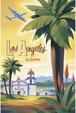 Los Angeles nähtynä Clipperistä Giclée-vedos tekijänä Kerne Erickson