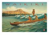 Waikiki Giclée-tryk af Kerne Erickson