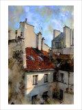 Red Roof in Paris, France Giclee Print by Nicolas Hugo