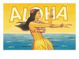 Aloha Lámina giclée por Kerne Erickson