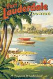 Fort Lauderdale (Kleinformat) Giclée-Druck von Kerne Erickson