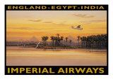 Imperial Airways, Egypten Gicléetryck av Kerne Erickson