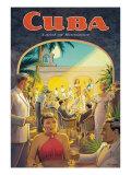 """Erickson """"Cuba Land of Romance"""" Reproduction procédé giclée par Kerne Erickson"""