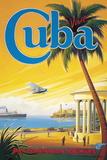Visit Cuba Giclée-tryk af Kerne Erickson