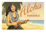 Aloha from Hawaii Giclée-tryk af Kerne Erickson