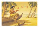 Aloha Serenade Giclée-vedos tekijänä Kerne Erickson