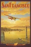 Western Air Express, San Francisco, Kalifornien Gicléetryck av Kerne Erickson