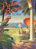 Palm Beach, Florida Reproduction procédé giclée par Kerne Erickson