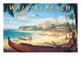 Waikiki Beach Giclee Print by Kerne Erickson