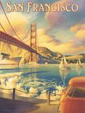 San Francisco Reproduction procédé giclée par Kerne Erickson