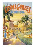Visit Coral Gables, Florida Impressão giclée por Kerne Erickson