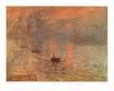 Soleil Levant Arte por Claude Monet