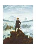 1818: 霧の海を見おろす散歩者 ポスター : カスパル・ダーヴィト・フリードリヒ