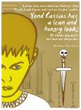 Julius Caesar: Lean and Hungry Kunstdrucke von Christopher Rice