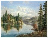 Siberian Lake Posters af Helmut Glassl