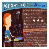Brownies aux Amandes Poster di Céline Malépart